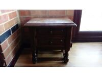 Solid oak occassional side table