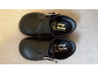 Boys black smart shoes - size 5 infant - worn once
