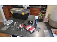 Warhammer 40K Miniatures Eldar and Space Marines