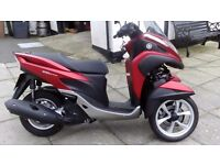 yamaha 125 tricity 3 wheel scooter moped trike bike in showroom condition never been used