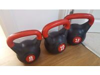 3 kettlebells for sale
