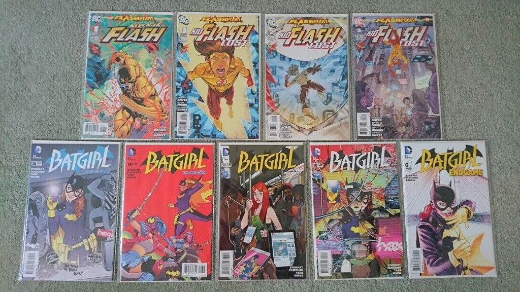 dc assorted reverse flash kid flash batgirl new bagged boarded
