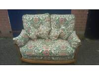 Ercol two seater suite and cushions ( SOLD )