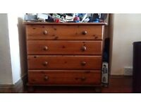 Pine chest of drawers x2