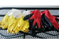Five Pairs of Brand New Strong Latex Work Gloves