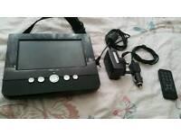 "Portable 7"" dvd player"