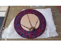 Purple mosaic circular wall mirror
