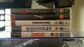 5x PS3 Games