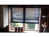 Venetian Wooden Blinds Premier Black (135 x 96cm) BRAND NEW