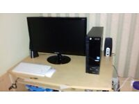 acer aspire pc tower and monitor 22 inch speakers and wireless keyboard and mouse