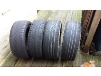 Set of 15 inch alloy wheels with tyres