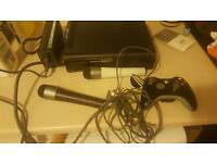 Xbox 360 with control and other