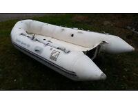 3.2m Zodiac Sport Rib Boat & Road Trailer & Launch Wheels - Rigid Hull in White