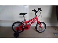 Kids Ridgeback mx14 14in bike, red, excellent condition,