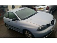 "2003 SEAT IBIZA 6L SET OF ALLOYS WITH 16"" TYRES. BREAKING. LS5T BLUE/ SILVER"
