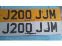 Private number plate J200JJM