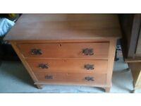 Solid wooden chest of drawers, vintage or older...
