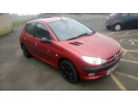2003 PEUGEOT 206 1.4 DIESEL 5 DOOR WITH 132,000 MILES FROM NEW AND 9 MONTHS MOT, 30 POUND ROAD TAX