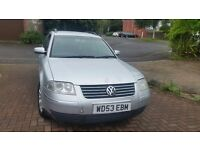 Vw passat estate, I year mot, central lock remote control key cheap on fuel and tax