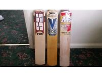 3 BRAND NEW UNUSED CRICKET BATS FOR SALE!!