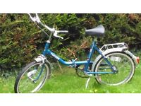 Unisex Folding Bicycle/bike - vintage - needs TLC