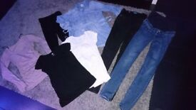 Maternity clothes bundle size 6 and XS
