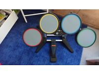 Xbox360 drum and guitar with the beatles game for sale  Gorebridge, Midlothian