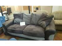 2 tones of grey large modern sofa