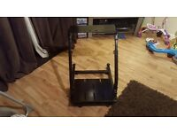 DX Racer Wheelstand with gearshift mount for Logitech wheels. Not GT Omega Wheelstand Pro