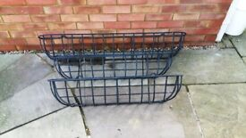 Gardman heavy wrought iron wall planters (1x 4ft, 2x 3ft)