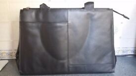 Lady's Black Leather Visconti Breifcase Style Work Bag . (Carries documents slightly larger than A4)