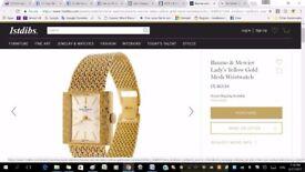 Baume & Mercier 18ct Gold Ladies 18k Bracelet Watch Unisex