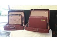 Delsey Suitcases - Set of 4 - Good Condition - Hard Plastic Exterior