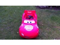 Lightning McQueen ride in electric car, in good condition.
