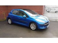 peugeot 207 1.6 hdi 5 door model 65433 miles , moted till febuary 2018