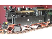 Train set G gauge model railway full set.