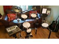 ROLAND T-D 12 ELECTRONIC DRUM KIT WITH EXTRAS
