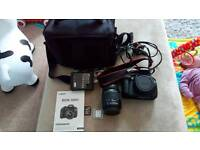 Canon 1200d camera and lens
