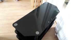 Black glass TV stand in great condition