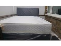 NEW DOUBLE OR SMALL DOUBLE DIVAN BED WITH PREVIOUS MATTRESS