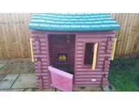 Little tikes playhouse log cabin