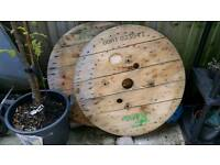 Cable reel top only table garden project upcycle