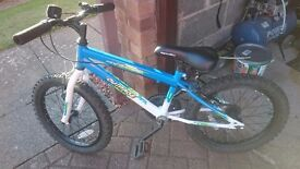 """Blue Apollo outrage 18"""" wheels - bike is in very good condition"""