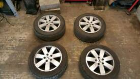 Set of 4 Ford Galaxy Alloy Wheels 5x112 will also fit most Audi, VW and SEAT cars