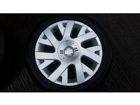 Alloys 17 Inch Citroen C4 (& Others) Alloy Wheels X2 With Center Caps Excellent Condition With Tyres