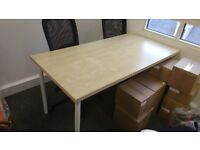 2xTable Desk Office Home School Furniture Tabletop Office furniture