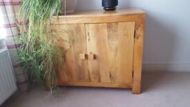 Natural hardwood sideboard