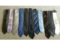 Men's 11 Silk ties bundle- M & S/T M LEWIN/NEXT- NEW condition
