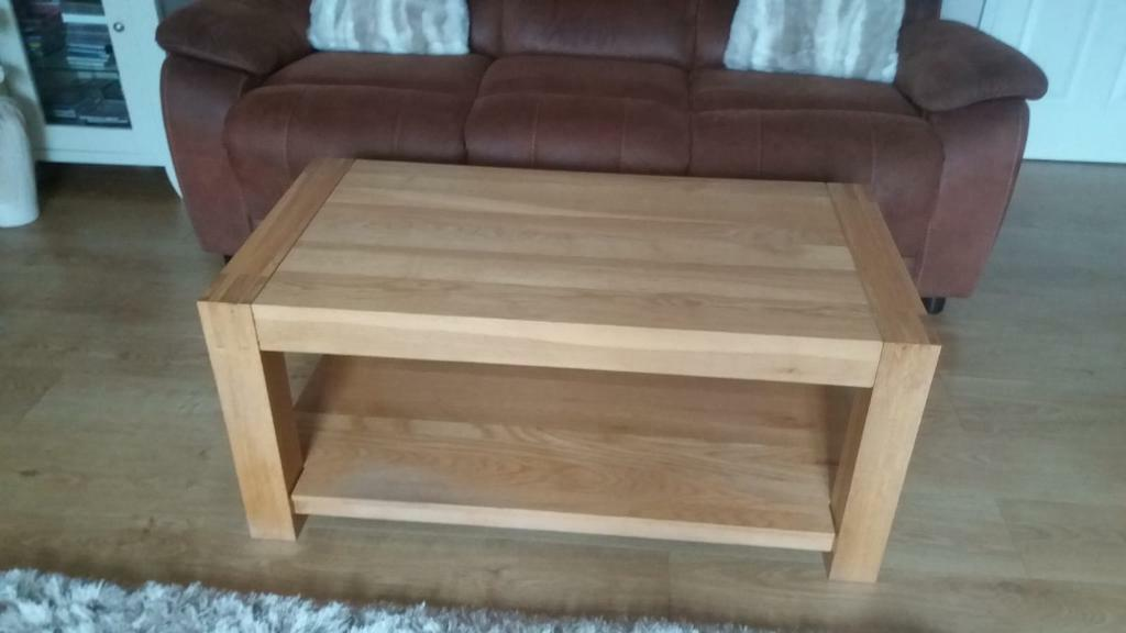 Oak Furniture Village Coffee Table Reduced In Witham Essex Gumtree