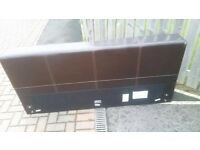 Gorgeous brown leather double bed frane